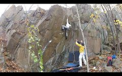 Rock Climbing Photo: Maurice climbing through those crimps and reaching...