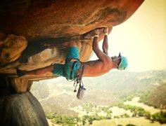 Rock Climbing Photo: Start of classic roof crack!
