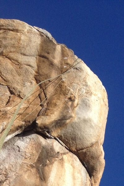Boulder problem crux headwall of Bodhisattva Arête!