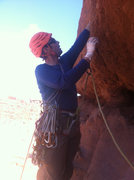 Rock Climbing Photo: 2nd pitch traverse on Standing Rock.