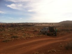 Rock Climbing Photo: Where we parked for the fixed rope approach to Sta...