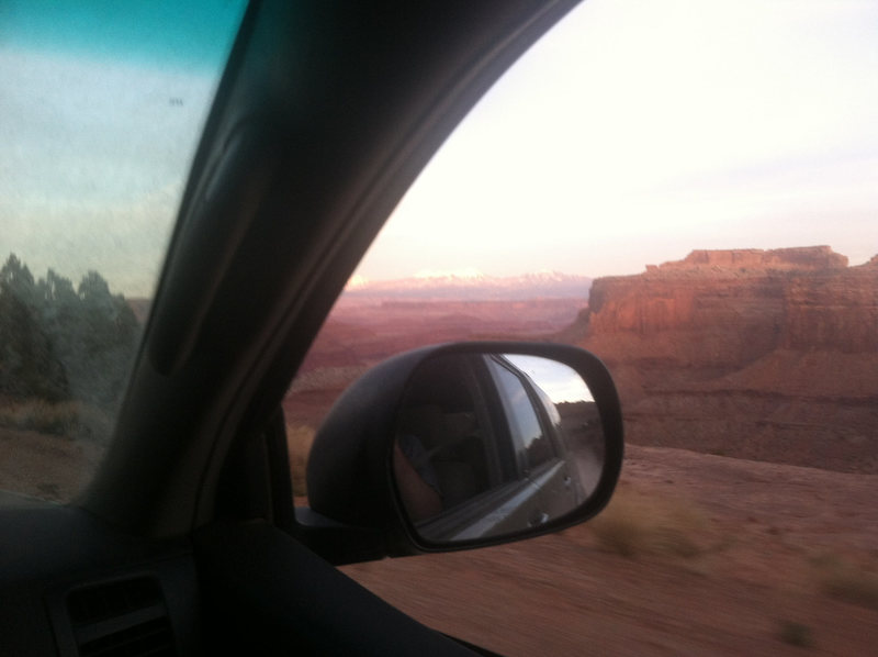 Driving out the White Rim