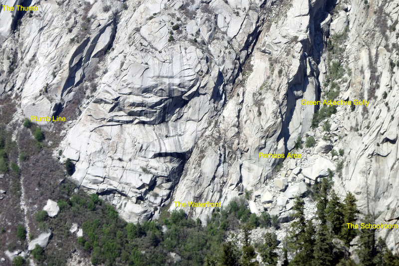 Multiple areas as viewed from the top of Waterfall Dome.