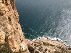 Rock Climbing Photo: Climbers heading up pitch 6 of Costa Blanca on the...
