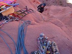 Rock Climbing Photo: Matt following pitch 6.