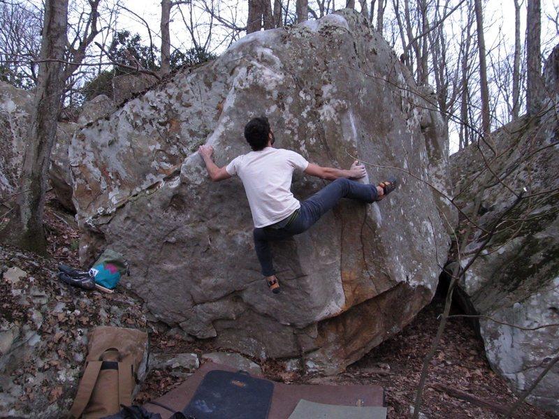 Rock Climbing Photo: Finishing up Nap Comp