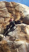 Rock Climbing Photo: Setting up for the Headwall crux!