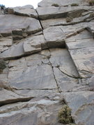 Rock Climbing Photo: Punctuation Mark, 10a