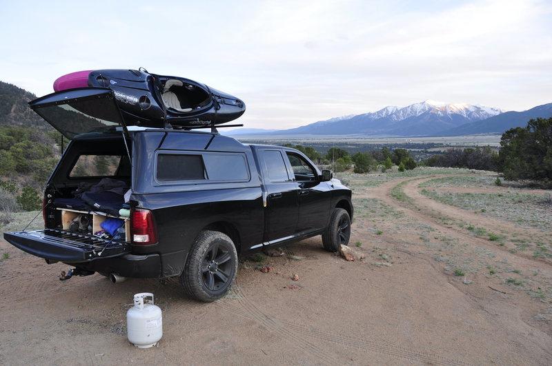 Rock Climbing Photo: Truck camping