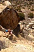 Rock Climbing Photo: Looking down on JR climbing FA of Bemo's Chimney!