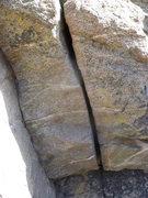 Rock Climbing Photo: A close up of the crux crack.