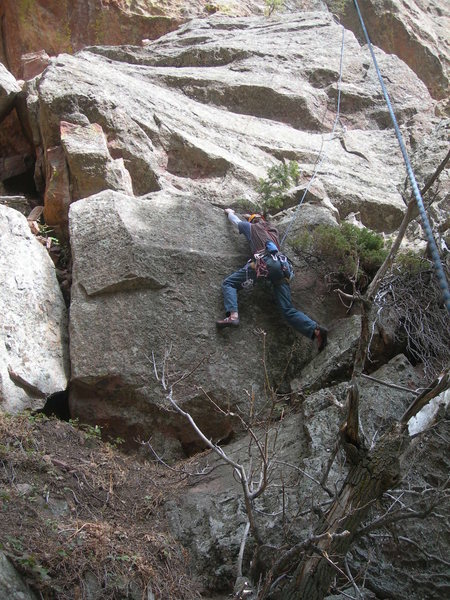 Rock Climbing Photo: Dave at the start and crux.