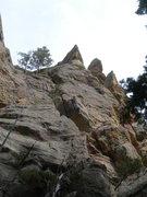 Rock Climbing Photo: Dave at the upper interesting bit.