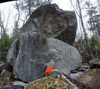 Rock Climbing Photo: Prince Philip Cluster Start down the trail, but in...