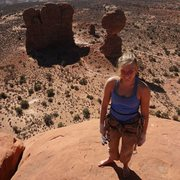 Rock Climbing Photo: Some tower in arches np