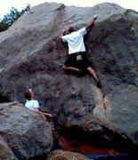 Rock Climbing Photo: Stellar, Asteroid Boulder, Hobble Creek Canyon