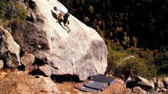 Rock Climbing Photo: Big Dipper, Asteroid Boulder, Hobble Creek Canyon