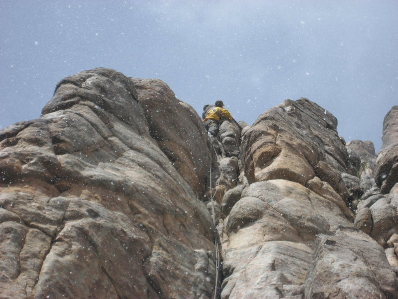 Unaweep Canyon, Colorado.  Spring Break.  Snowing lead. March 26-29th 2014.  With Mike C. and Doug D.
