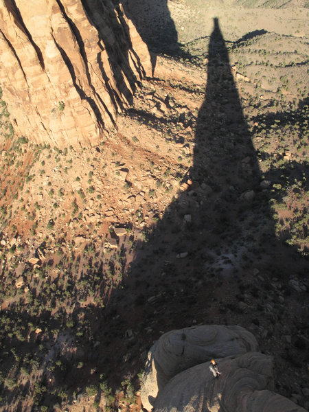 Rock Climbing Photo: Emily Reinsel on the last pitch of Sundial Dihedra...