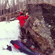 Rock Climbing Photo: Fun movement on this fun little arete.