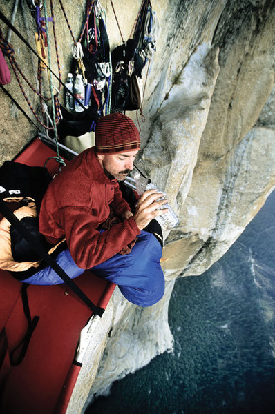 Rock Climbing Photo: The simple life: a portaledge camp on El Cap.  by ...