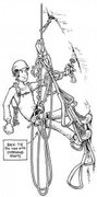 Rock Climbing Photo: Figure 1: The second removes all the pro as he mov...