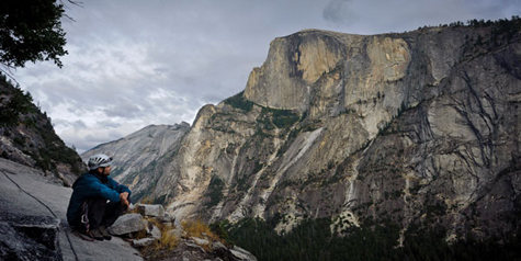 The northwest face of Half Dome.<br> by Alexandre Buisse
