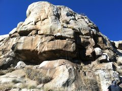 Rock Climbing Photo: Main wall. Ropes hanging off of Conception 5.11, a...