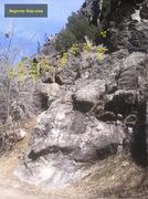 Rock Climbing Photo: Beginner Slab area beta.