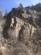 Rock Climbing Photo: Left of Lone Pine Tree area beta.