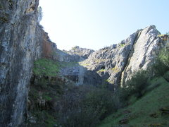 Rock Climbing Photo: Upper end of the quarry near Twin Towers.