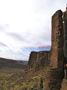 Rock Climbing Photo: Awesome free standing pillar!! Not R rated, but th...