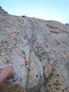 Rock Climbing Photo: The first bolt.