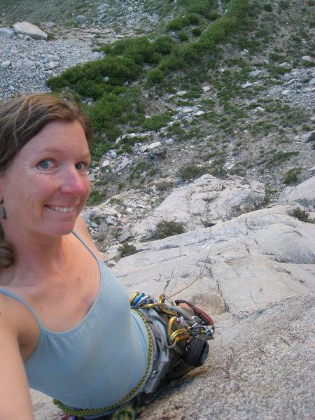 Rock Climbing Photo: Halfway up.