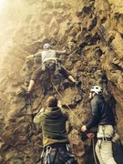 Rock Climbing Photo: on lead, Decortication in a Clinical Stupor
