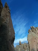 Rock Climbing Photo: Q on Hawks Nest first pitch.