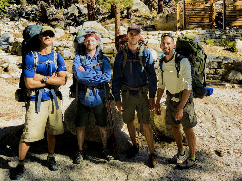 Rock Climbing Photo: Tim, G.C., Me, and Steve headed for the High Sierr...