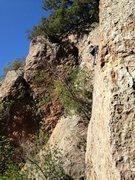 Rock Climbing Photo: jessie leading miss pacman