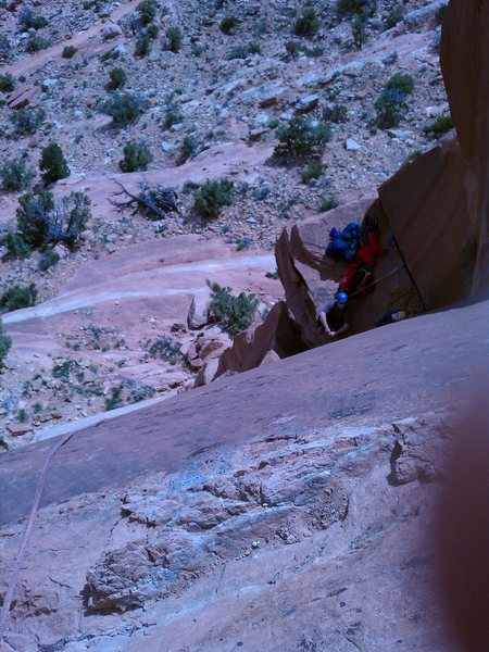 Rock Climbing Photo: View from anchors.