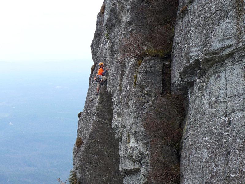 Rock Climbing Photo: crux of White Lightning