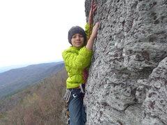 Rock Climbing Photo: near the pitch 1 anchors