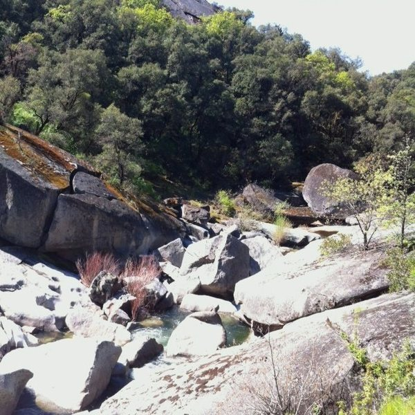 Rock Climbing Photo: Downstream view of Granite Cove.