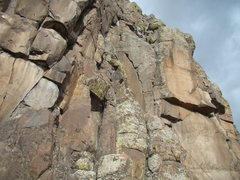 Rock Climbing Photo: Phillip on Polar Sandals above the thin dihedral. ...