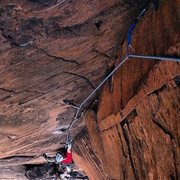 Rock Climbing Photo: Stephen King on the 3rd pitch of Time's Up.