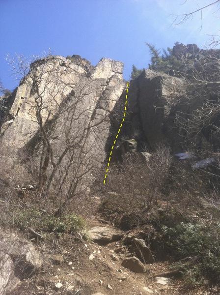 Rock Climbing Photo: Gray Face area beta.