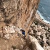 Kristin Knudson climbs to the P3 belay of Diedra UBSA