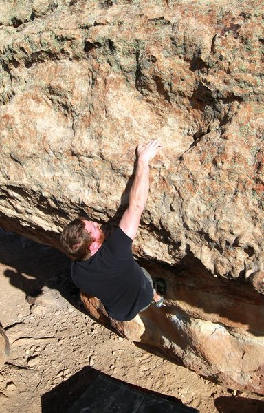 Rock Climbing Photo: Bigs finishing up the V4? V5? SDS out the overhang...