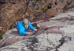 Rock Climbing Photo: Austin moving up