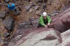 "Rock Climbing Photo: Ben leads ""Pushmi-pullyu"".  Ben says &qu..."