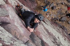 Rock Climbing Photo: dinking at gear